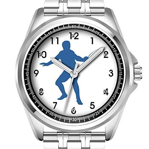 Personalisierte Herrenuhr, modisch, wasserdicht, Diamant_506.Zaun-Silhouette