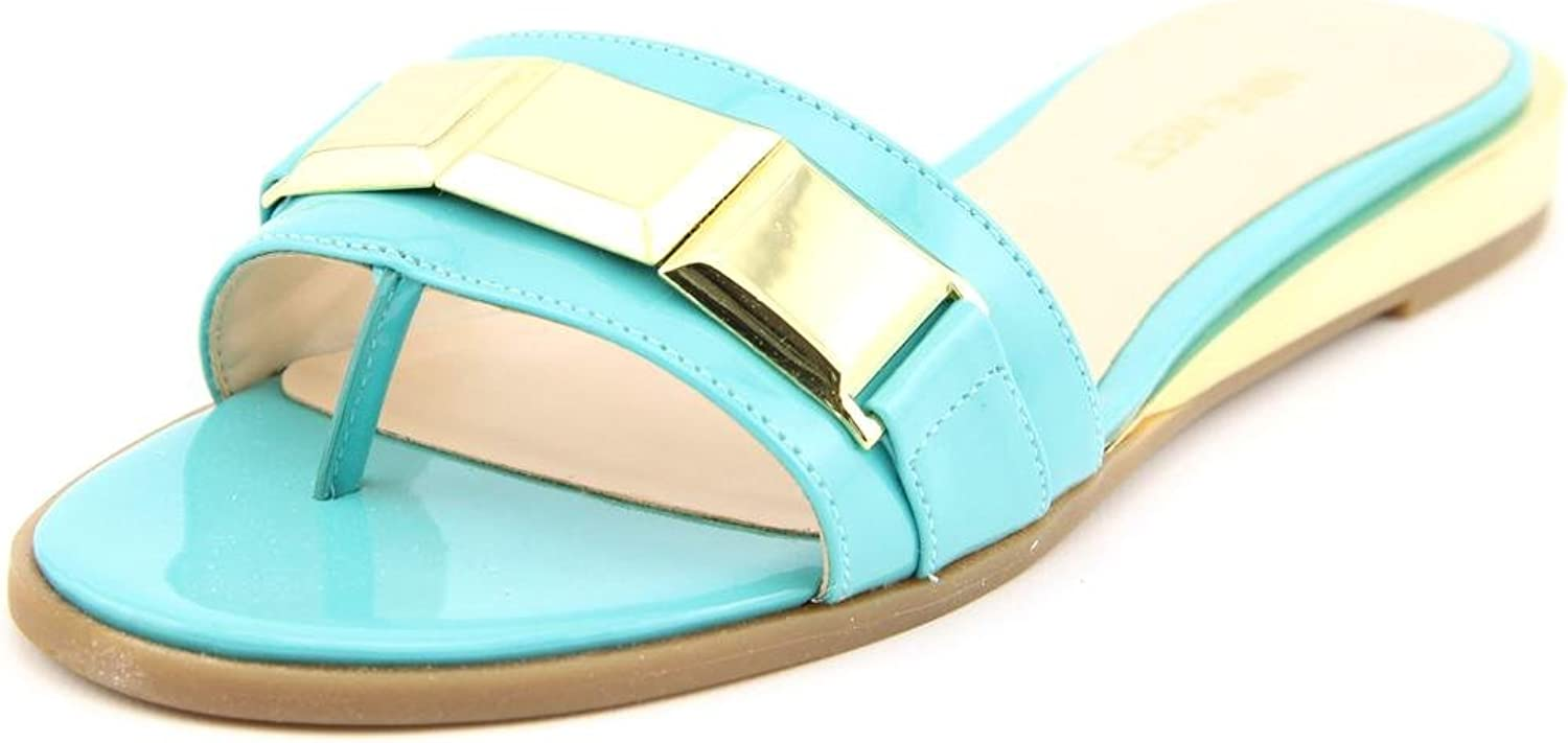 Nine West Womens Xtina Open Toe Casual Slide Sandals, Turquoi SY, Size 6.5