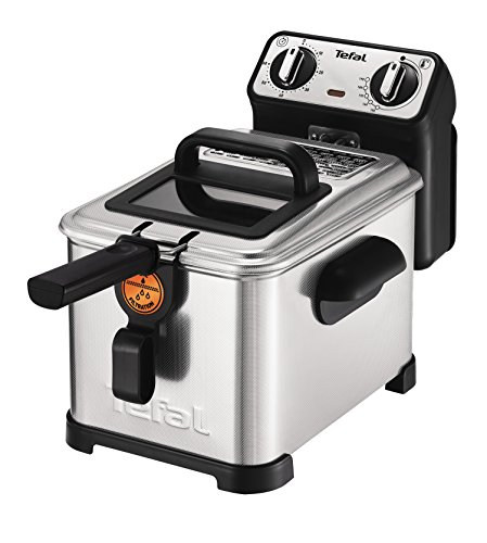 Tefal FR5101 Fritteuse Filtra Pro Inox and Design, Timer, wärmeisoliert, Clean-Oil-System, 2300 W,...