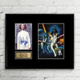 Carrie Fisher Princess Leia Star Wars Signed Autographed Photo Mat Custom Framed 11 x 14 Replica Reprint Rp