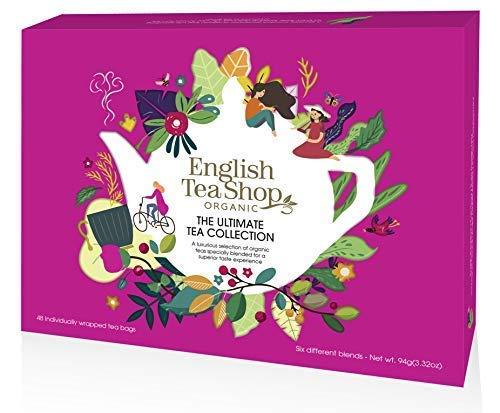 English Tea Shop Collezione Premiata Selezione di Té e Tisane Biologiche Made in Sri Lanka - 1 x 48 Bustine di Tè (96 Grammi)