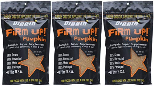 Diggin Your Dog gReDFn Firm Up Pumpkin Supplement, Vegetable, 9.5H X...