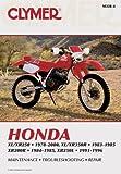 Honda XL/XR250 (1978-2000) & XL/XR350R (1983-1985) Motorcycle Service Repair Man