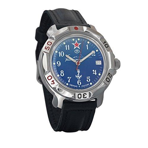 Vostok Komandirskie 2414 Hand-Winding Mechanical Russian Military Mechanical Watch // 811289 (Classic-Leather)