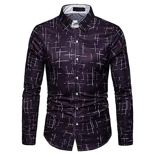 Camisa de manga larga para hombre, diseño estrellado