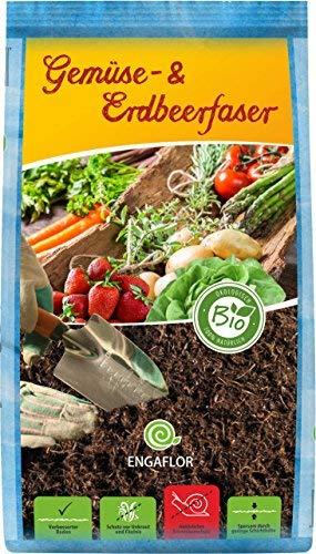 ENGAFLOR Gemüse- & Erdbeerfaser, Mulch, Abdeckfaser, Gartenfaser, Sack a' 50 Liter