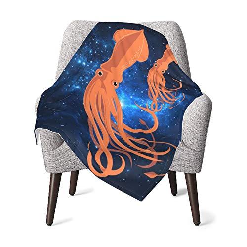 Manta de bebé para niños y niñas, diseño de pulpo Galaxy, manta de bebé, para el hogar, cálida cama, manta de felpa para sofá de niños, 70 x 100 cm