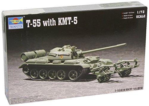 Trumpeter 1:72 -Modellino Carro Armato T-55 with Mine Roller (Tru07283)