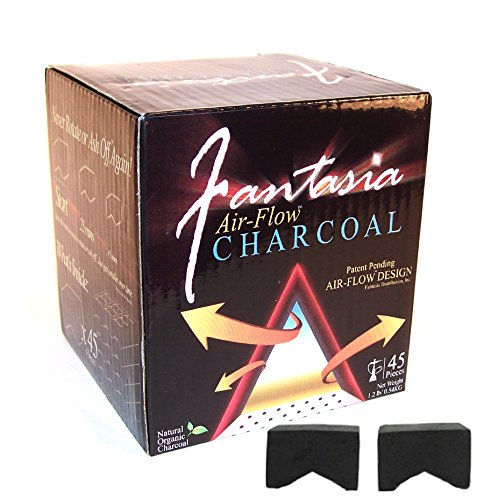 Fantasia Air-Flow Hookah Charcoal Natural Hookah Charcoal 45 PC