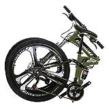 Eurobike Folding Bike G4 21 Speed Mountain Bike 26 Inches 3-Spoke Wheels Bicycle