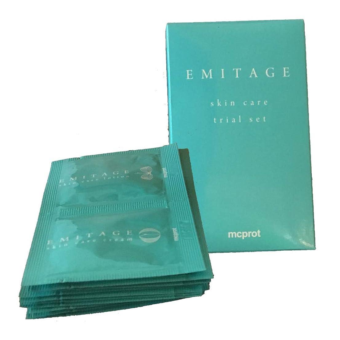 曲げる倫理的イーウェルEmitage(エミテイジ) 肌への思いやり ローション&クリーム トライアルセット