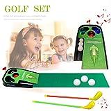SOWOFA 24,8 'Golfspielzeug Golfset 2 Golfruten & Golfübungssets & Putting Mat & Putting Green, Golfspielset mit Sound Lights (kein Box Pacing)
