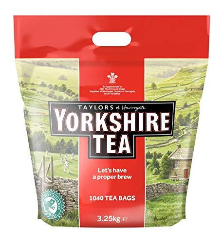 Yorkshire Tea Traditional 1040 Tea Bags 3.25 Kg (2 Pack)