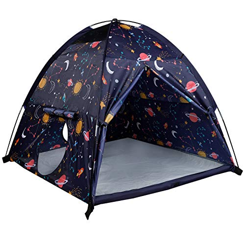 """MountRhino Space World Kids Play Tent-60""""x60""""x47"""" Kids Pop Up Tent Children Camping Playhouse ndoor Outdoor Play Tents for Boys Girls Large Space Kids Tents with Rainfly Perfect Kid's Gift"""