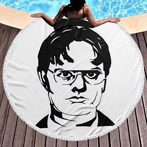 Dw-ight Sc-hrute - Toalla de baño, piscina, playa, toalla de algodón súper suave y absorbente, resistente a la decoloración