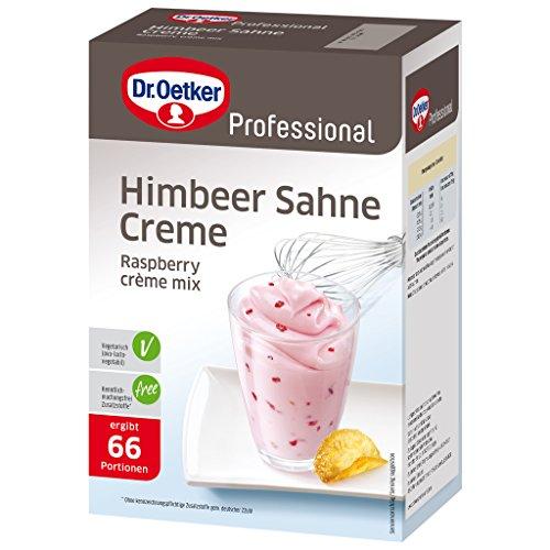 Dr. Oetker Professional Himbeer-Sahne-Creme, Dessertpulver in 1 kg Packung