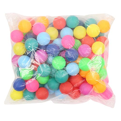 150 PCS Table Tennis Balls Coloured Ping Pong Balls 40mm Ideal for Games Adults & Children Not suitable for professional athletes, Practice, Competition