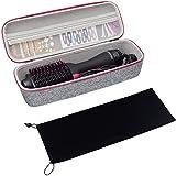 ProCase Hard EVA Travel Case for Revlon One-Step Hair Dryer/Volumizer/Styler, Carrying Case with Velvet Bag Cover for Revlon or Similar Items in Size -Grey