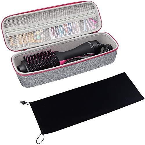 ProCase Estuche Duro para Revlon One-Step Hair Secador/Volumizador de Pelo, Caja con Funda de Terciopelo Guarda Revlon Hair Dryer o Artículo de Tamaño Similar (Solo Estuche) - Gris