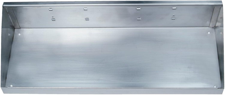 Triton Products 66186 Stainless Steel LocHook 18-Inch W by 6-1 2-Inch Deep Stainless Steel Shelf for Stainless Steel LocBoard