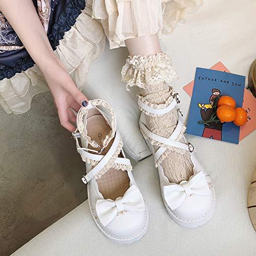 DJDLNK boog Lolita grote hoofd pop schoenen Mori Women'S College stijl student zachte zuster platte schoenen