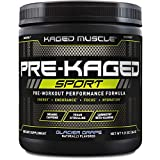 Kaged Muscle Pre Workout Powder; Kaged Muscle Pre-kaged Sport, Glacier Grape, 20 Servings, Glacier Grape, 9.38 Ounce