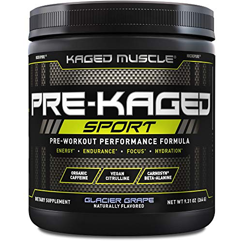 Kaged Muscle Pre Workout Powder; Kaged Muscle Pre-kaged Sport, Glacier Grape, 20 Servings., Glacier Grape, 9.31 Ounce
