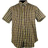 Warrior Clothing England Men´s Short Sleeve Retro Button-Down Shirt Double Barrel Skin Mod Punk (Slim-Fit) (2XL (Slim-Fit))
