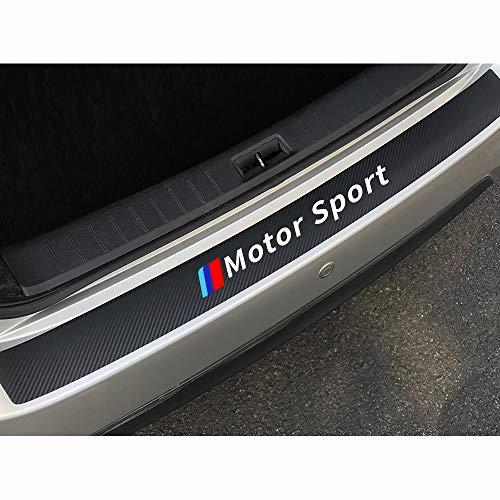 Auto Kohlefaser Heck Stoßstangenschutz, für BMW E90 E60 E46 E39 E36 E91 X1 X3 X5 Motorsport Heck Kofferraum TüRschwelle Kratzfeste Antikollisions Wasserdicht Schutzstreifen Dekoration Styling Zubehör