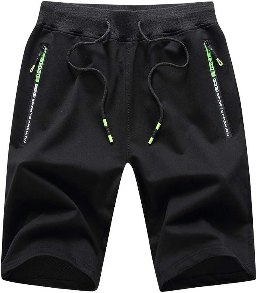 VEKDONE Mens Shorts Casual Drawstring Elastic Waist Chino Shorts Summer Beach Shorts Big and Tall Slim Fit