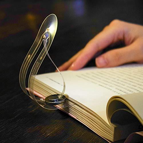 LNOFG Nachtlicht Leseleuchte Leseleuchte USB wiederaufladbare Leseleuchte Augenpflege doppelt als Lesezeichen für Buch