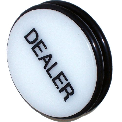 Trademark Global Marchio 7,6 cm Dealer Puck Button (Bianco)
