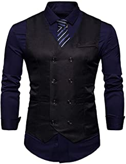 Men's Vests Slim Fit Leisure Men's Business Modern Modern Casual Vests Tuxedo Waistcoat Slim Fit Wedding Suit Vest Baomwool