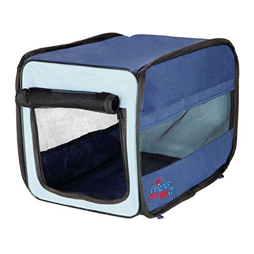 Transport souple Twister, XS: 31 × 33 × 50 cm, bleu foncé/beige