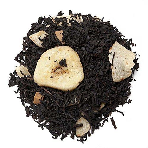 Aromas de Té - Tè nero 'Sonrisa Africano' con cocco, banana a pezzetti e caramello, con fibra naturale, vitamina ed antiossidante (100 gr)