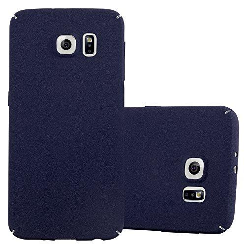 Preisvergleich Produktbild Cadorabo Hülle für Samsung Galaxy S6 - Hülle in Frosty BLAU Hardcase Handyhülle im matten Frosty Design - Schutzhülle Bumper Back Case Cover