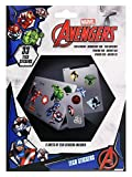 Marvel kit de 33 Autocollants-Avengers, TS7404, Multicolore