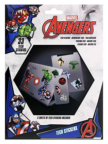 Marvel Aufkleber-Set Avengers, TS7404, Mehrfarbig, 33 Stück