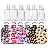 Minear 6 Sätze Tragbare Reiseflaschen Set, Leere Reisegrößen Flasche mit Schlüsselbund, 30 ml...