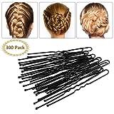 Brautschmuck Haarnadeln - 300pcs Bobby Pins Haarnadeln Schwarz Haarklammern Haarschmuck für...