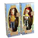 2 Piezas 38 Cm Toy Story Talking Woody Jessie Buzz Lightyear Rex Bullseye Figura Coleccionable Muñec...