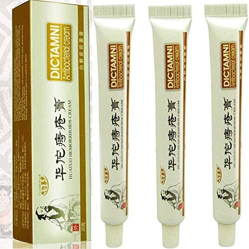 3 Pack Huatuo Hemorrhoids Cream -DICTAMNI - Antibacterial Cream -Chinese Herbal Hemorrhoids Cream
