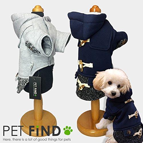 秋冬モデル (高品質) あったかダッフルコート PET FiNDブランド 犬の服 犬服 犬 服 XXL,グレー