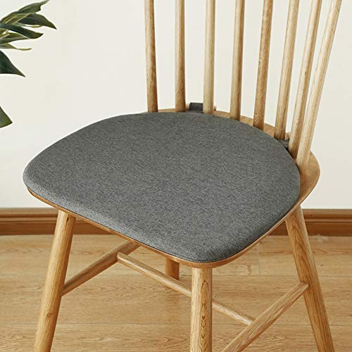 QIAOTT Windsor Chair Cushion,dining Chair Cushion Nonslip Back Seat Pad Wooden Bolt Fastening Solid Color-f 42x38cm(17x15inch)