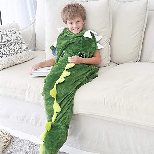N / A Hai Decke Schlafsack mit Haifisch Zähne Schwanz, Meerjungfrau Krokodil Schwanz Schlafsack, Warm Weich Fleece Flanell Steppdecke für Kinder (Krokodil)