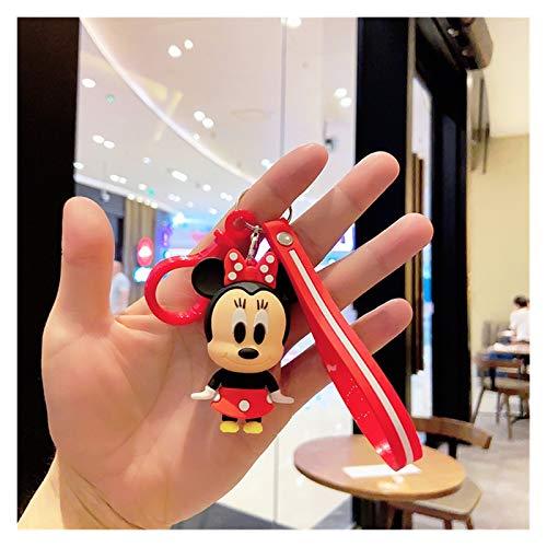 JSJJAWS Delicado Llavero Ornamentos Llavero Mickey Mouse Minnie Linda Dibujos Animados Crayon Llavero para niñas Niños Moda Moda Bolsa de Coche Llavero Decoración (Color : 4)