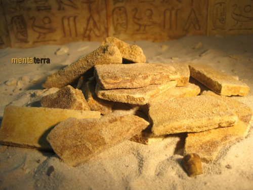 Ägyptische Bruchsteine, 350 Gr. für Terrarien Deko