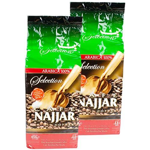 Najjar - Arabischer Mokka Kaffee gemahlen mit Kardamom im 2er Set á 450 g Packung