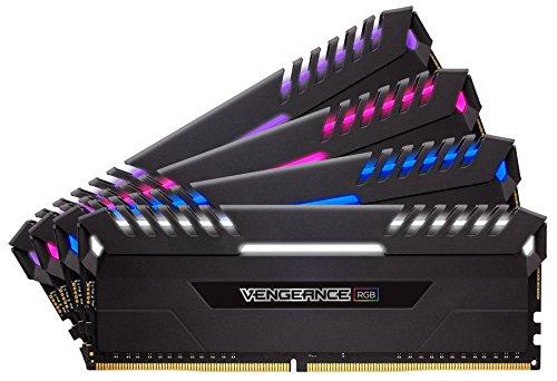 Corsair Vengeance RGB - Kit de Mémorie Enthousiaste (64Go (4x16Go), DDR4, 3333MHz, C16, XMP 2.0) - Noir