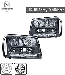 MPH 02-09 Chevy Trailblazer OEM Driver & Passenger Replacement Headlights Lamps Assembly
